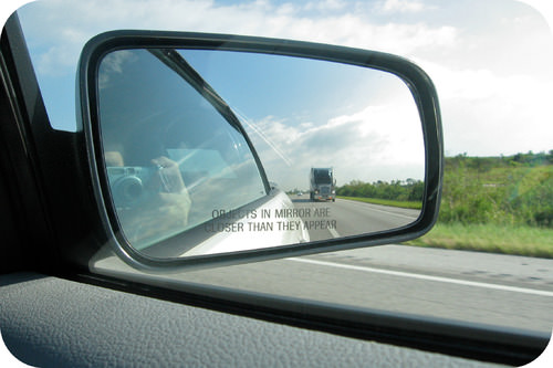 Car passenger mirror