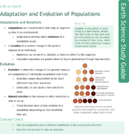 Adaptation and Evolution of Populations Study Guide