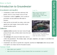 Introduction to Groundwater Study Guide