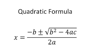 Quadratic Formula and the Discriminant:  Using the Quadratic Formula