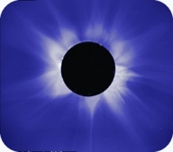 The Sun's corona during a total solar eclipse