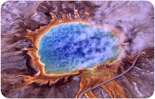 The Grand Prismatic Spring at Yellowstone
