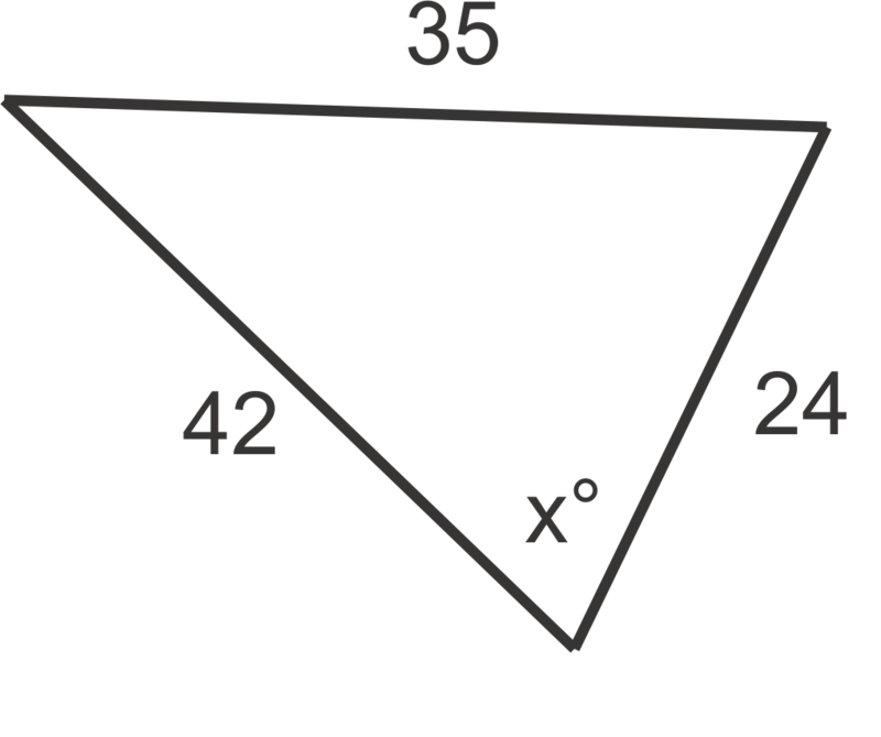 how to find an angle with cos law