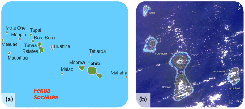 Map of the Society Islands