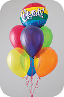 Balloons float because they contain helium, which is lighter than air