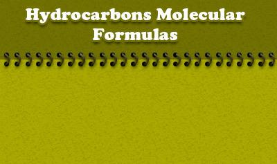 Hydrocarbons Molecular Formulas