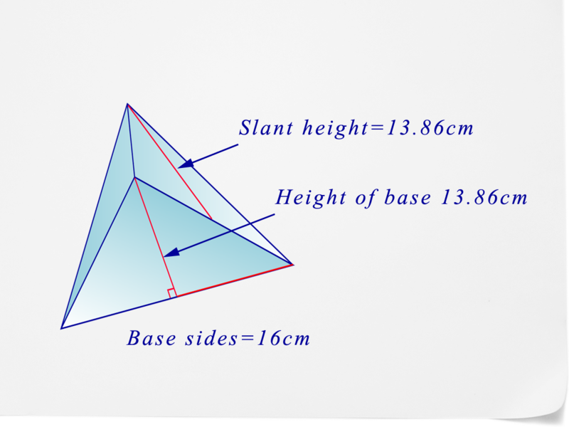 how to find the surface area of a triangular pyramid
