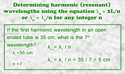 Harmonics 3: Standing Waves in an Open Air Column - Example 2