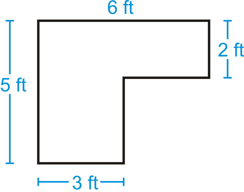 Find the areas of the figures below. You may assume all sides are ...