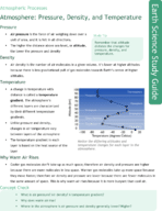 Atmosphere: Pressure, Density, and Temperature Study Guide