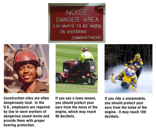 Sources of loud noises