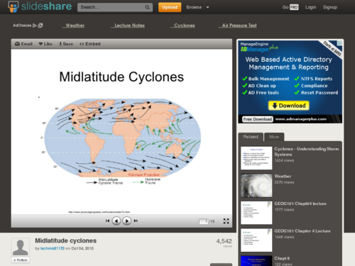 Midaltitude Cyclones - Slideshow