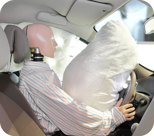 An airbag decreases the impulse of a collision