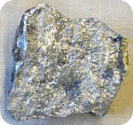 Solid elemental antimony