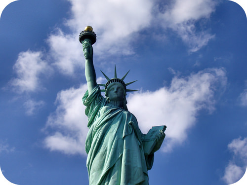 The Statue of Liberty is protected from further corrosion by a layer of patina