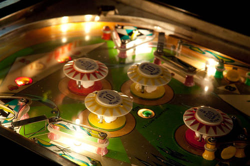 Pinball machines contain multiple solenoids that operate bumpers, switches, and other moving parts