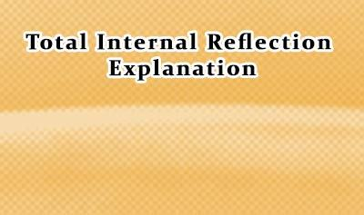 Total Internal Reflection Part II: Explanation