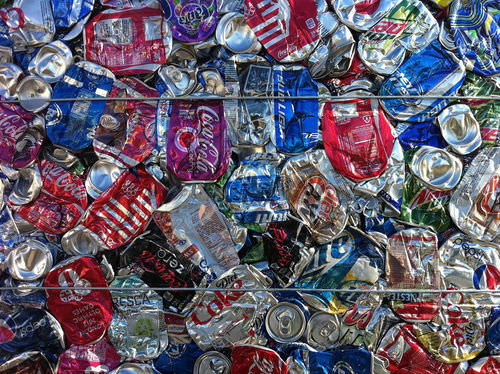 Recycling aluminum cans help saves a large amount of energy
