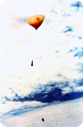 Weather balloons expand and eventually burst as they travel to higher altitudes