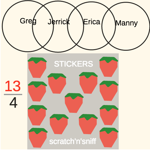 Improper Fractions as Mixed Numbers: Sharing Scratch-n-Sniff Stickers