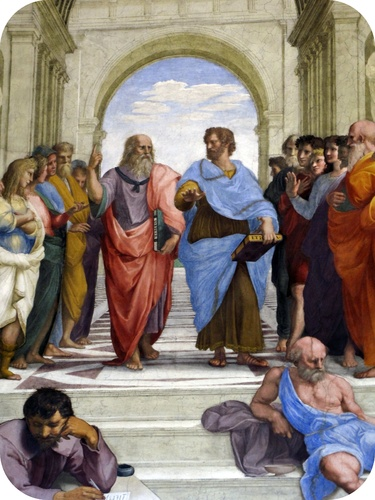 Picture of ancient Greek philosophers