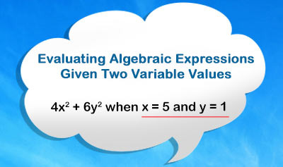 Evaluating Algebraic Expressions - Example 2