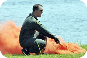 Smoke flares take advantage of a form of mixture called a colloid