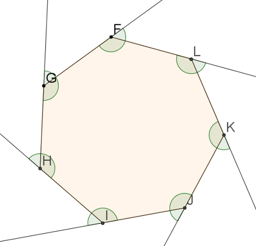 Polygons ck 12 foundation Exterior angle of a 12 sided polygon