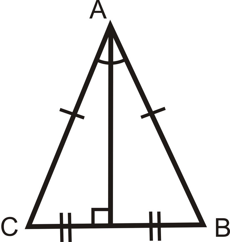 how to find the base of an isosceles triangle