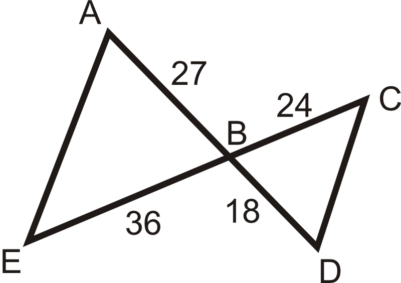 value of the missing variable s  that makes the two triangles similarSimilar Triangles Sas
