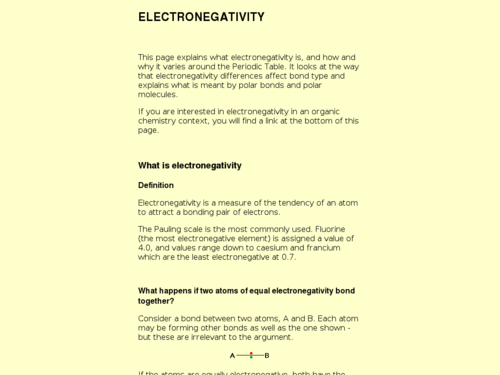 Electronegativity Article
