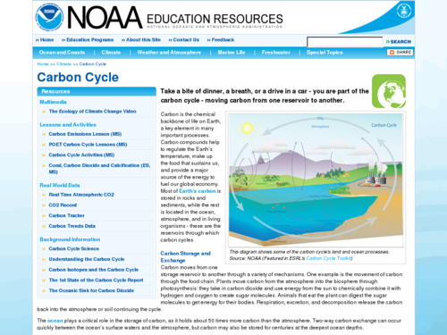 Carbon Cycle Web Resources