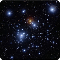 These hot blue stars are in an open cluster known as the Jewel Box