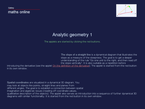 Analytic Geometry 1