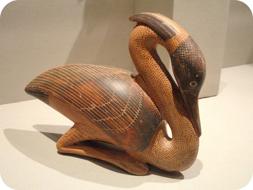 Ancient perfume flask from 580-550 B.C.