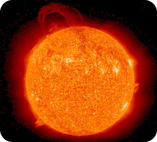 Picture of a solar prominence