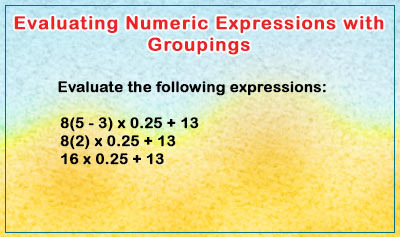 Evaluating Numeric Expressions with Groupings - Example 3