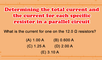 Ohm's Law Problems for Parallel Circuits - Example 2