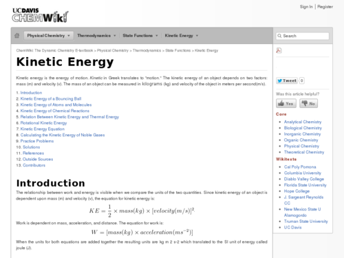 Kinetic Energy in Real Systems