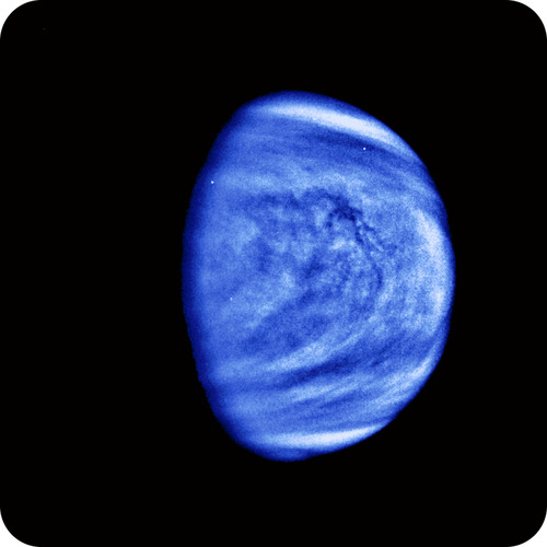 Venus has a highly acidic atmosphere
