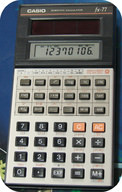 Photoelectric cells power a calculator