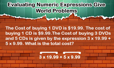 Evaluating Numeric Expressions - Example 4