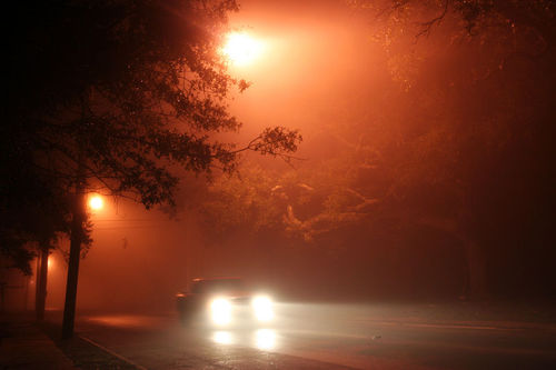 Light scattering in fog