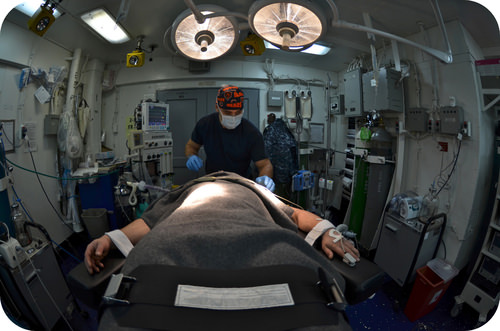 Patient receiving anesthesia