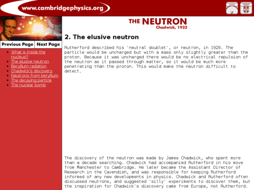 Cambridge Physics - Discovery of the Neutron