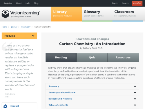 Carbon Chemistry: An Introduction