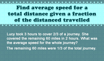 Find Average Speed - Example 5