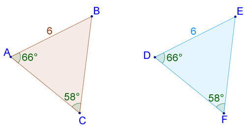 Asa And Aas Triangle Congruence Ck 12 Foundation