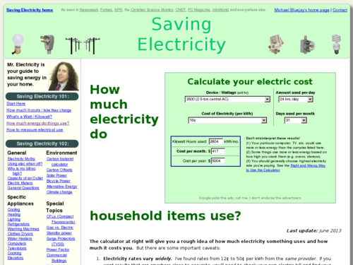 How Much Electricity Do Household Items Use?