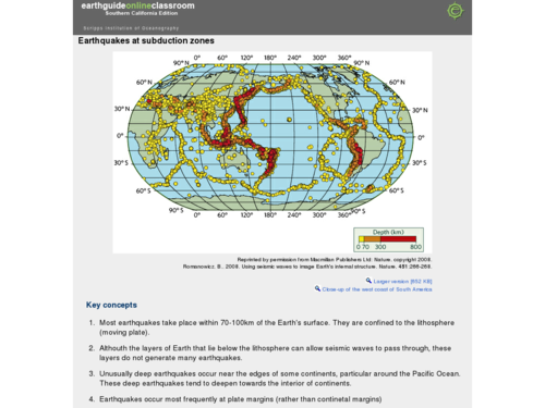 Earthquakes at Subduction Zones
